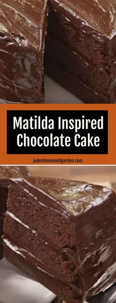 Matilda Inspired Chocolate Cake. Here's for you the most amazing chocolate cake. So just go and grab this recipe now! #chocolate #cake #Matildachocolatecake