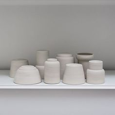 Endless shape possibilities #shape #soft #wheelthrown #cups #tableware #experiment #porcelain #kiln #studiolife #decoration #workspace…