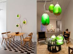 These living algae lamps produce light, heat, and a protein-pa...