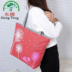 Women Casual Tote Designer Lady Large Bag Fashion dandelion Handbags  shopping bag  Women's Shoulder Bags