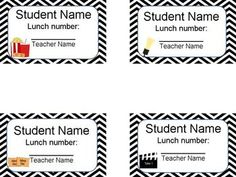 Editable Student Lunch Number Cards in Ocean/Underwater