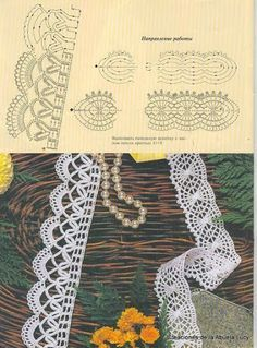 PUNTILLAS AL CROCHET 2 - 红阳聚宝5 - Álbuns da web do Picasa...Pretty lace to use in jewelry making!!