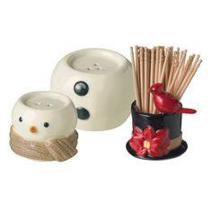 Grasslands Road Snowman Salt and Pepper Shaker with Toothpick Holder - Grasslands Road Products - Brands