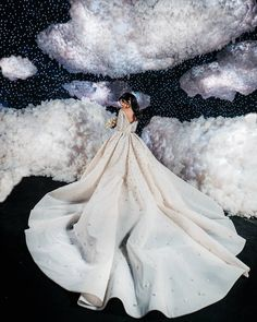 Above the Clouds ☁️ ______________ ▪Wedding designer and planne Wedding Theme Design, Wedding Designs, Designer Wedding Gowns, Wedding Dresses For Sale, Cloud Decoration, Lebanese Wedding, Above The Clouds, Yes To The Dress, Creative Photography