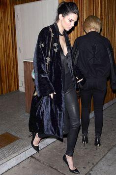 How Kendall Jenner Wears Velvet