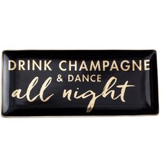 Rosanna Jet Setter Drink Champagne & Dance All Night Tray (52 BAM) ❤ liked on Polyvore featuring home, kitchen & dining, serveware, bags, beverage tray and drink tray