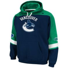 Majestic Vancouver Canucks Ice Classic Pullover Fleece Hoodie - Navy Blue