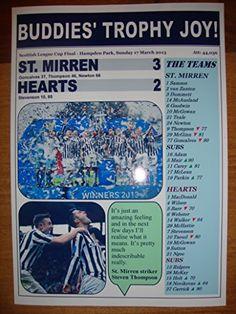 St Mirren 3 Hearts 2 - 2013 Scottish League Cup final - souvenir print Lilywhite Multimedia http://www.amazon.co.uk/dp/B016J22EVU/ref=cm_sw_r_pi_dp_SBqiwb0JQYJEC