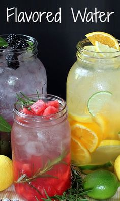 Flavored water simple clean healthy