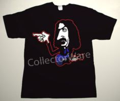 FRANK ZAPPA cartoon 8 CUSTOM ART UNIQUE T-SHIRT  Each T-shirt is individually hand-painted, a true and unique work of art indeed!  To order this, or design your own custom T-shirt, please contact us at info@collectorware.com, or visit  http://www.collectorware.com/tees-frankzappa_andrelated.htm