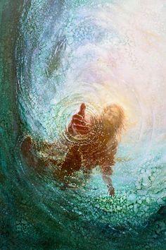 """""""Mas, sentindo o vento forte, teve medo; e, começando a ir para o fundo, clamou, dizendo: Senhor, salva-me!"""" (Mateus 14:30)"""