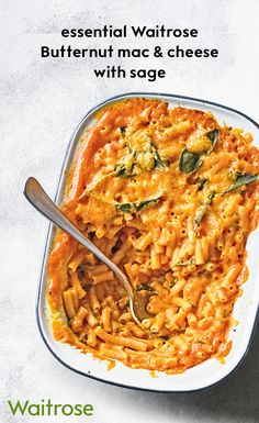 Macaroni cheese is the ultimate comfort food. Our addition of butternut squash adds to the creaminess of this irresistible pasta bake. Make sure to give this recipe a try – find it on the Waitrose website.