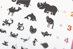 Animal pictograms icons graphic design typography, zoo signage и animal log Zoo Signage, Logo Animal, Visual Identity, Brand Identity, Branding, Cute Pens, Animals Images, Funny Animals, Best Icons