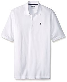 IZOD Men's Big and Tall Advantage Performance Solid Polo, White, Tall Wicking Natural stretch Roll resistant collar UPF 15 sun control Mens Big And Tall, Big & Tall, New Wardrobe, Wardrobe Staples, Clothes For Big Men, Stretch Shorts, Preppy Style, Polo Shirt, Polo Fashion