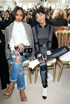 Jada Pinkett Smith and Willow Smith at Chanel