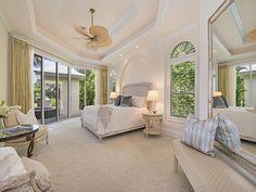 Large neutral restful master bedroom - Little Harbour in Naples, FL