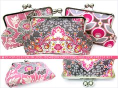 Wonderful! a pattern for a clasp/snap purse. great if you lost the kit you bought, replaced just the clasp, and realised that you're screwed without a pattern & no-one wants to help you (meh to you, you sew girl :( FreeSpirit-Rowan 10&10 Series: Clasp Clutch in Joel Dewberry/Notting Hill
