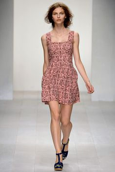 Pinny dress-check out the pixelated floral print
