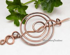 Brass Spiral bun cage hair bun holderhair bun by MusawwarCreation