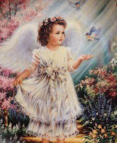 "Dona Gelsinger Angle Plate""An Angel's Guidance "" 2 1997 Bradford Exchange"