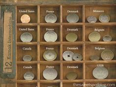 coin display, coin collection display, templat, coin collecting