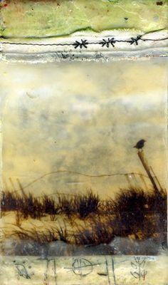 Encaustic painting by Bridgette Guerzon Mills