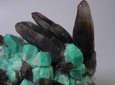 Amazonite+smoky quartz