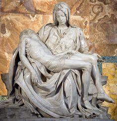 The Pietà is a masterpiece of Renaissance sculpture by Michelangelo  Buonarroti ef94af53252