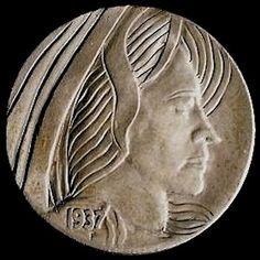 RAY CASTRO HOBO NICKEL - 1937 BUFFALO PROFILE Hobo Nickel, Buffalo, Classic Style, Carving, Profile, Art, User Profile, Art Background, Wood Carvings