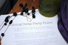 I want to host a swap party this summer! Clothing Swap Party Rules by Alejandra of Always Order Dessert, via Flickr