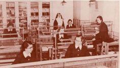 Atelier de tissage ©Archvies CND Institut familial de Saint-Pascal