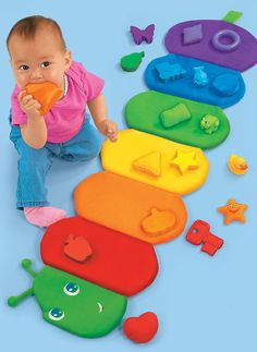 Can't wait to put something like this together for my little man! Colorpillar Sorting Mat