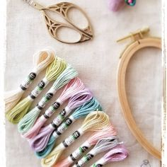 Super soft and in many yummy colors. Make some silky stitches 😄 Dmc Embroidery Floss, Silk Ribbon Embroidery, Embroidery Patterns, Floss Bracelets, Cross Stitch Supplies, Bracelet Crafts, Metallic Thread, Friendship Bracelets, Color Palettes