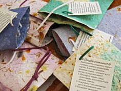 Plantable gift-wrap envelopes by Boby Dimitrov, via Flickr