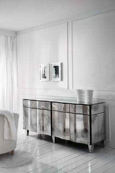 Gorgeous Venetian mirror sideboard | www.bocadolobo.com #bocadolobo #luxuryfurniture #exclusivedesign #interiodesign #designideas #modernbuffets #sideboardideas #buffetdesign #reflectingsideboard