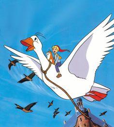 Mi niño lo ve ahora, y le encanta Things of the past ( ) - Dingen van vroeger ( ) ( Nils Holgersson - 90s Childhood, My Childhood Memories, Sweet Memories, Book Illustration, Illustrations, Good Old Times, Pub, 90s Cartoons, Animation