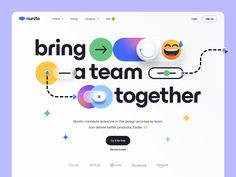 Nunito - Hero header v.2 😅 by Tran Mau Tri Tam ✪ Company Job, New Bus, Ui Design Inspiration, Design Reference, Design Process, User Interface, Header, A Team, Cool Designs