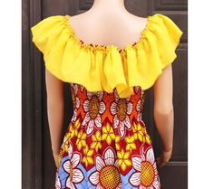 Ankara Maxi Dress African Clothing Long Maxi by AfrowearHouse