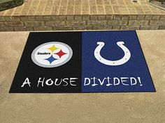 """NFL - Steelers - Colts House Divided Rug 33.75""""x42.5"""""""