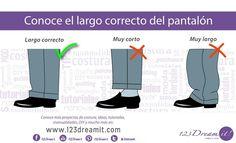 Conoce el largo correcto de pantalones y mangas en los hombres. #modahombre