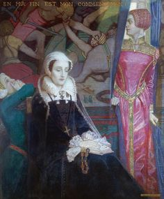 Mary, Queen of Scots, at Fotheringhay~ John Duncan (Scottish 1866-1945)