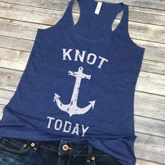 ae2be89436662 Nautical Tank Top Women - Funny Sailing Gift - Boating Shirt - Anchor Tank  Top - Spring Break Tanks - Beach Cover Up - Vacation Tank Top