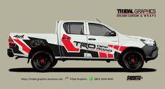 Sticker Mobil Sorong, Toyota Hilux Sticker Design.  TRIBAL GRAPHICS jln. Trikora,Transad,Aimas Kab.Sorong Papua Barat Call/SMS/WA (0852-5434-4693)  #TribalGraphics #CuttingSticker #3DCuttingSticker #Decals #Vinyls  #Stripping #StickerMobil #StickerMotor #StickerTruck #Wraps  #AcrilycSign #NeonBoxAcrilyc #ModifikasiMobil #ModifikasiMotor #StickerModifikasi  #Transad #Aimas #KabSorong #PapuaBarat Menu Mobile, Dashboard Mobile, Custom Wraps, Mobile Covers, E Commerce, Mobile Design, Sticker Design, Layout Design, Sign Up