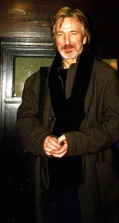 "Alan Rickman. Something about this outfit just makes me want to cuddle right into his chest. ""Tell me a story.."""