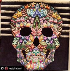 Skull Enchanted Forest Adult ColoringColoring PagesColoring BooksSecret