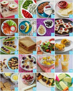 healthy lunches/snacks