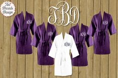 FREE ROBE Set of 7 or MORE Monogrammed Waffle by twobroadsdesign