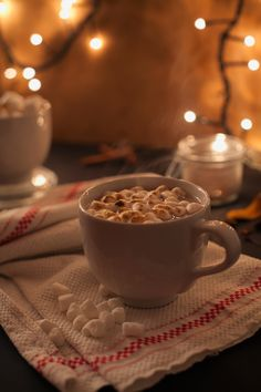 Marshmallows and hot cacao.