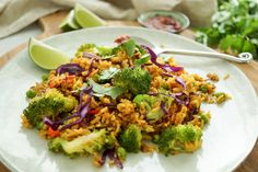 A super delicious, healthy recipe for Vegetable Fried Rice (Nasi Goreng) that is packed with veggies and loads of flavor. Nasi Goreng, Vegetable Recipes, Vegetarian Recipes, Healthy Recipes, Baby Food Recipes, Cooking Recipes, Healthy Dishes, One Pot Meals, Clean Eating