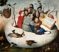The Concert in the Egg - Hieronymus Bosch Artist: Hieronymus Bosch Start Date: 1475 Completion Style: Northern Renaissance Genre: religious painting Technique: oil Material: panel Hieronymus Bosch, Renaissance Kunst, Renaissance Music, Arte Tribal, Garden Of Earthly Delights, Dutch Painters, Chef D Oeuvre, Illustration, Medieval Art
